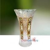 Lọ hoa bó mạ miệng răng cưa mạ vàng đắp nổi LHP204
